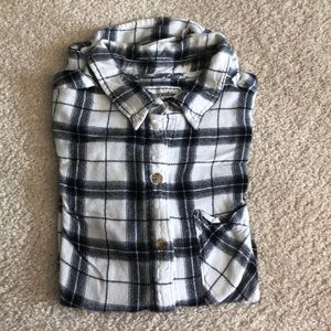 Abercrombie & Fitch Tops - Black & White Flannel